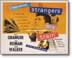 "Afiche original de ""Strangers On A Train""."